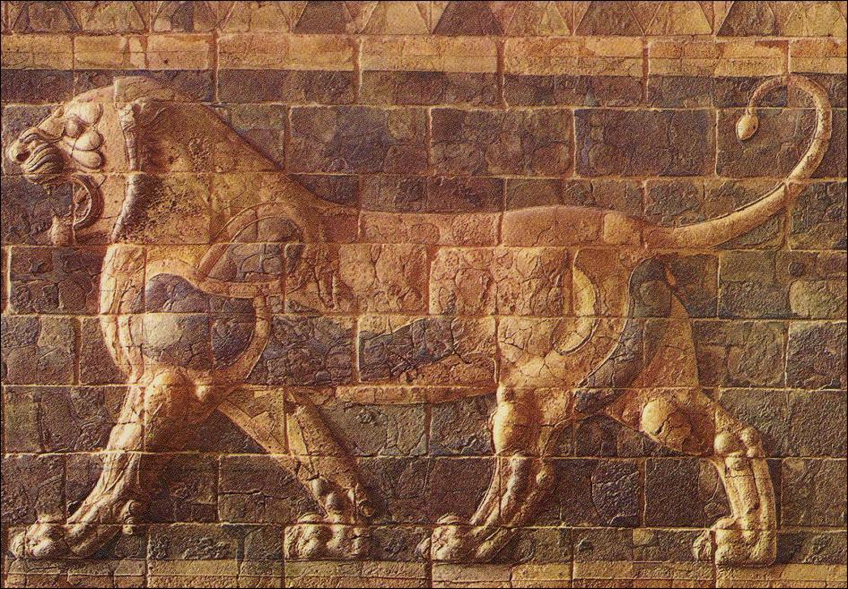 Arte mesopotamico - Cabeceras pintadas en la pared ...