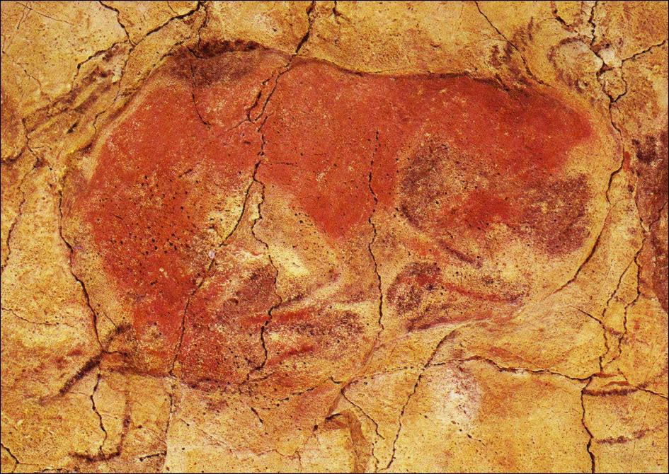 Arte prehistorico - Cabeceras pintadas en la pared ...