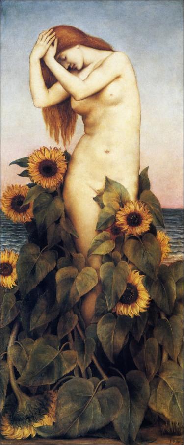 Desnudo femenino en pintura de paisaje