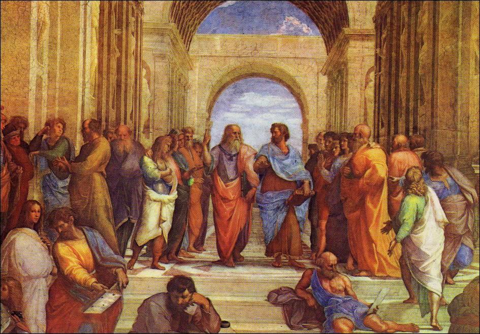 La escuela de Atenas (detalle). Estancia de Rafael. Vaticano