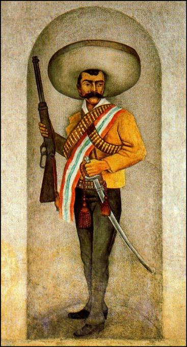 Diego rivera for Emiliano zapata mural