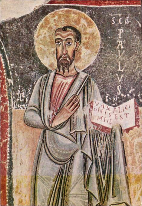 Resultado de imagen de Santa María del castillo de Orcau detalle de San PABLO