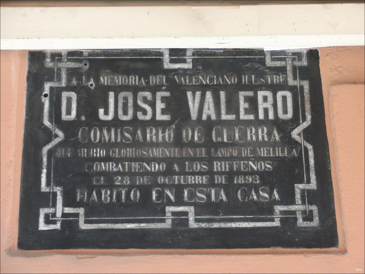 LAPIDAS CONMEMORATIVAS CALLES DE VALENCIA